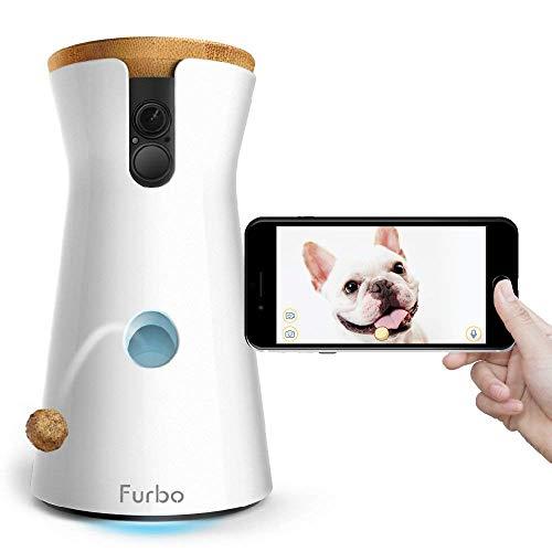 Furbo HUNDEKAMERA: Full HD WiFi Haustierkamera mit Leckerli Ausgabe, 2-Wege-Audio, Nachtsicht und Bell-Alarm (bekannt aus VOX hundkatzemaus)