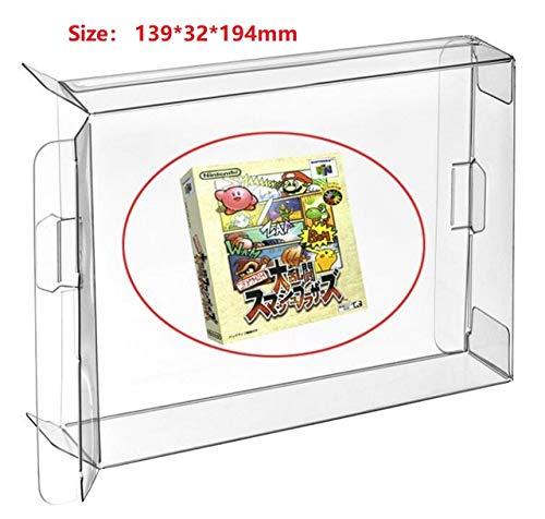 Ruitroliker 10Pcs Klar Spiele Patronen Fall Hülse Schutzhülle für N64 WII U DVD Dual Disc Box Japan Version