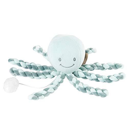 Nattou Spieluhr Oktopus, Wiegelied «La-Le-Lu», Für Neugeborene und Frühchen, 23 cm, Mintgrün