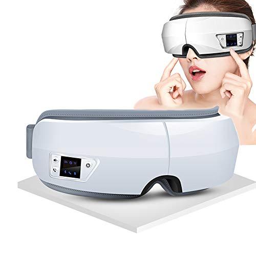CCCS Eye Massager Electric Mask Vibration,Bluetooth,Foldable Compression Music for Headache for Relieve Eye Strain Dark Circles Eye Bags Dry Eye Improve Sleepand Blepharitis