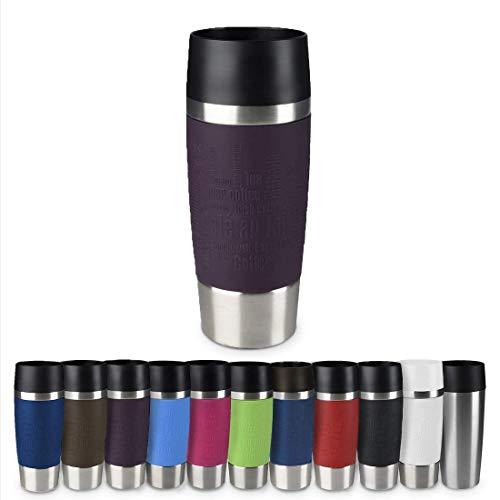 Emsa 513359 Travel Mug Classic | Thermo-/Isolierbecher | Fassungsvermögen: 360 ml | hält 4h heiß/ 8h kalt | 100% dicht | auslaufsicher | Quick-Press-Verschluss | 360°-Trinköffnung | Brombeer