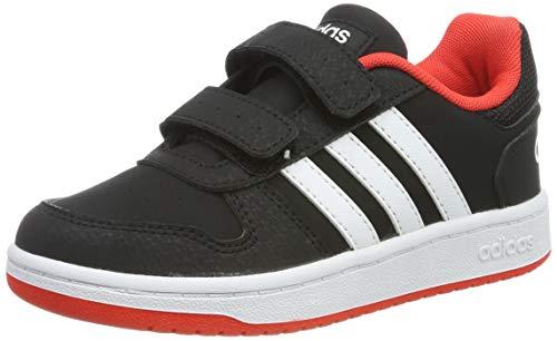 adidas Unisex-Kinder Hoops 2.0 CMF C Fitnessschuhe, Schwarz (Negro 000), 35 EU
