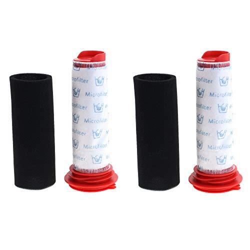 2x Filter Set Staubsaugerfilter für Bosch Staubsauger Athlet BCH6 Serie, BCH6L2560, BCH6L2561 BCH6ZOOO Zoo'o ProAnimal, Filter Set kompatibel zu Bosch 00754176 und 00754175, Filter von CleanMonster