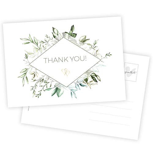 15 Danksagungs-Karten I DIN A6 I Set Dankes-Karten Postkarten Dankeschön Vielen Dank nach Hochzeit Taufe Geburt zur Kommunion Konfirmation I dv_684