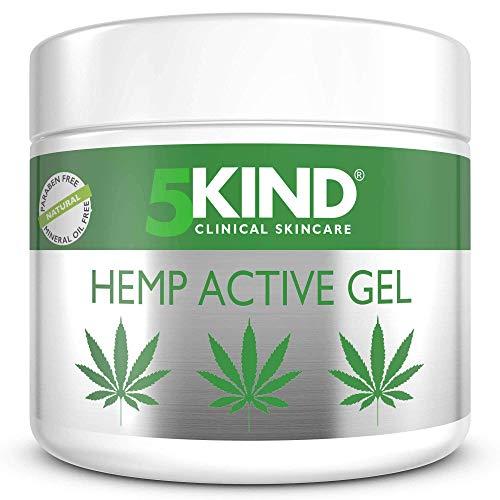 Beruhigendes Hanf-Aktivgel für Muskeln & Gelenke – Sehr wirksame, beruhigende Formel mit Cannabisöl und natürlichen Extrakten von 5kind. Beruhigt Füße, Knie, Rücken, Schultern (300ml)