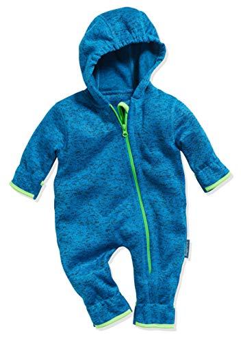 Playshoes Baby-Unisex Strickfleece-Overall Schneeanzug, Blau (Blau 7), 74