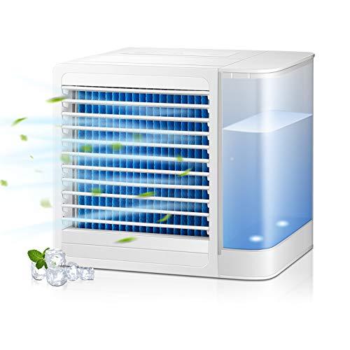 MVPower Mobile Klimageräte Air Cooler, 3 in 1 Luftkühler Mini Persönliche Klimaanlage mit Wasserkühlung Luftbefeuchtung Ventilator sehr geeignet für Büro und zuhause, 2 Leistungsstufen
