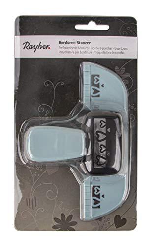 Rayher Hobby 89758000 Bordüren-Stanzer Herzen, Motivgröße 4,5 cm, für Papier/Karton bis zu 200 g/m²