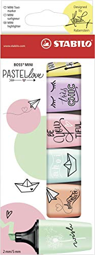 Textmarker - STABILO BOSS MINI Pastellove - 6er Pack - 6 Pastell-Farben