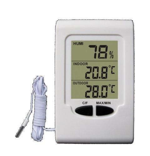 Koch elektronischer Thermo-Hygrometer, weiß