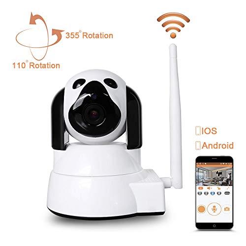 IP Kamera, LXMIMI WiFi Haustier Kamera 720P HD Überwachungskamera 355 ° / 110 ° Schwenkung Fernbedienung mit Bewegungserkennung Nachtsicht 2 Weg Audio für Haustier Überwachung Indoor