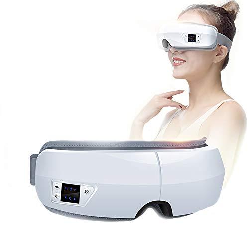 CCCS Augenmassagegerät Elektrische Augenringe shiatsu mit warmefunktion Musik, Ermüdung und Stressabbau Entspannung Warmes Geschenk