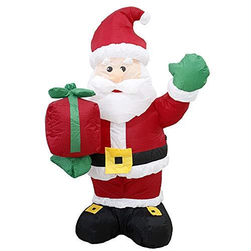 TSSM Aufblasbare Weihnachtsdekorationen Weihnachtsmann Weihnachten im Freien Garten-Yard begrüßen Weihnachtsdekor-Built-In Inflator Fan für Familiengärten Indoor Outdoor Yard-Party