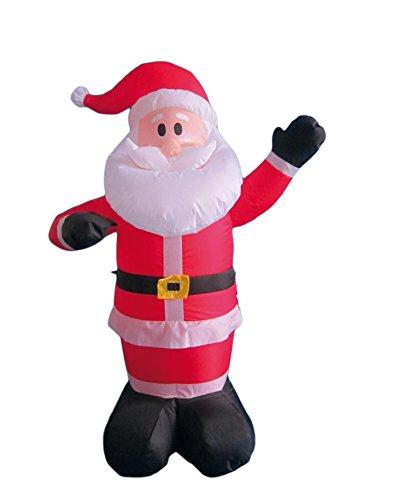 My Home Aufblasbarer Weihnachtsman mit Gebläse und Licht, Höhe ca. 120 cm