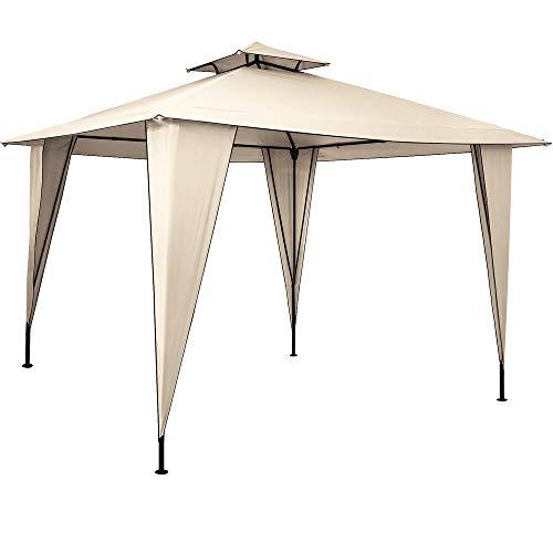 Pavillon Sairee 3,5x3,5m wasserdicht Dachhaube UV-Schutz 50+ Festzelt Partyzelt Gartenzelt Garten Creme