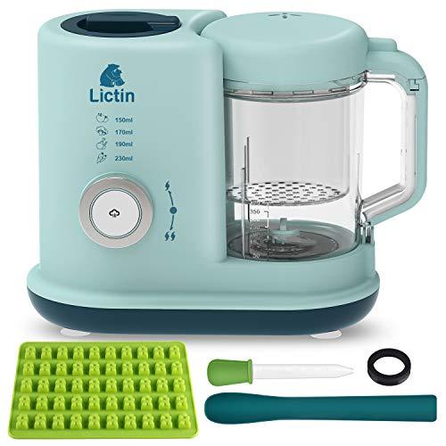 Lictin Babynahrungszubereiter 4 in 1 Babynahrung Dampfgarer Baby Mixer Aufwärmen Multifunktionen Küchenmaschine