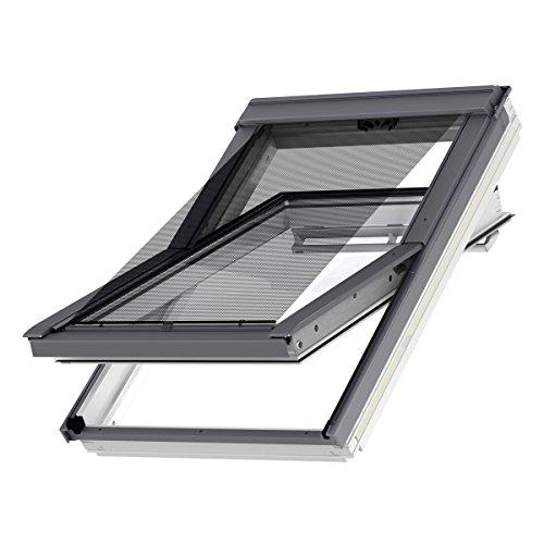 VELUX Original Hitzeschutz-Markise außen Dachfenster, U04, U08, U10, UK04, UK08, UK10, 808, 810, Uni Schwarz