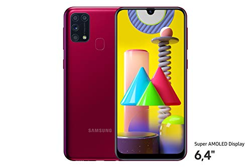 Samsung Galaxy M31 Smartphone (15,92 cm (6,4 Zoll) 64 GB interner Speicher, 6 GB RAM, Android, red) Deutsche Version - exklusiv bei Amazon