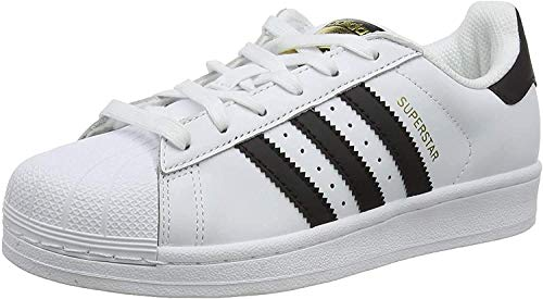 adidas Unisex-Erwachsene Superstar Low-Top, Weiß (Ftwr White/Core Black/Ftwr White), 38 2/3 EU