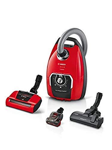 Bosch Electroménager BGL8PET2, Pro Animal Staubsauger mit Beutel, rot, 650 W, 72 Dezibel
