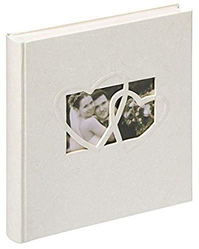 Walther UH-123 Hochzeitsalbum - Sweet Heart mit Ausstanzung zur persönlichen Gestaltung, 60 Seiten, 28 x 30,5 cm weiß