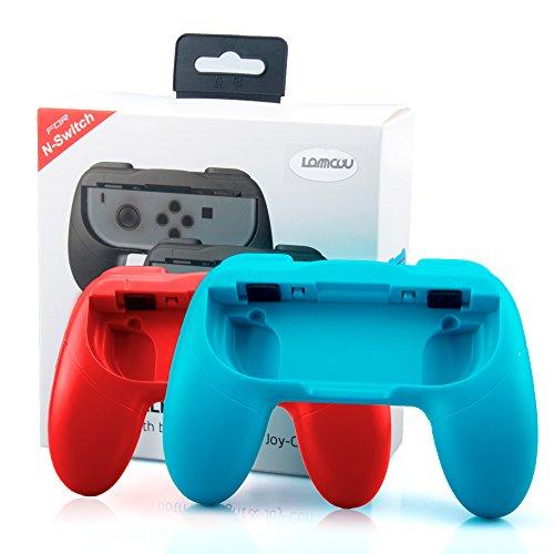 Joy Con Griff für Nintendo Switch Joycon Controller Halterung Ergonomisch Nintendo Joy Con Griff Halter Schutz Hülle Joy-Con-Griff Halter Zubehör für alle Nintendo Switch Konsole -Blau+Rot