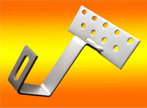 bau-tech Solarenergie 4 Stück Edelstahl - Dachhaken A2 für Dachsteine, Dachpfannen, Solar PV Montage GmbH