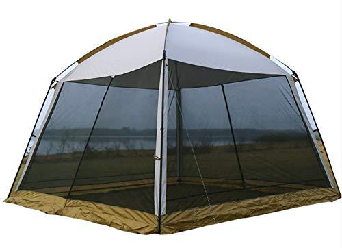 N / A Wasserdicht Beständig Sun Gazebo, Shade Baldachin Sail Pavillon mit Sides, Sturdy-Party-Ereignis-Zelt, for Tourismus Camping Strand Feld Angeln.300 * 300 * 215cm