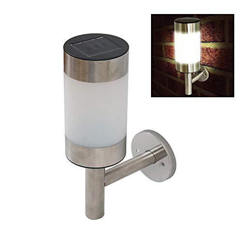Edelstahl LED solarbetriebene Wandleuchte Gartenzaun Licht Außentreppe Weg Landschaftssicherheit Sensor Umwelt Lampe