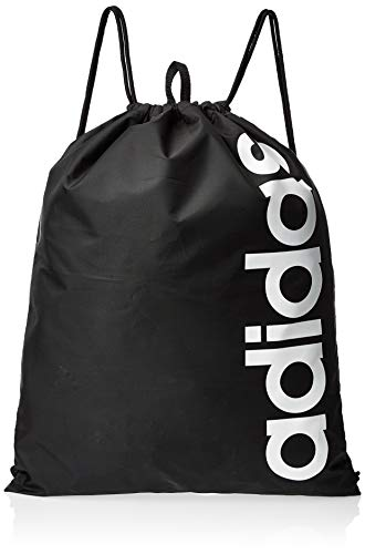 adidas Unisex Linear Core Sportbeutel, Black/Black/White, 37 x 47 cm
