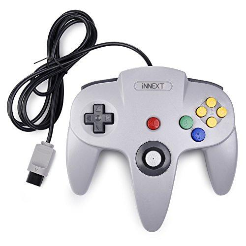 iNNEXT Retro Wired Controllers für N64 Console, Classic Controller Joystick für Classic 64 Konsole N64 Game System,Grau