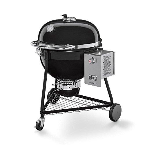Weber Summit Grill Barrel Charcoal + Natural Gas Black–Barbecues & Grills (Grill, Charcoal + Natural Gas, Barrel, Grate, HINGED LID, Black)