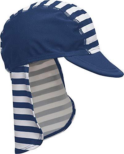 Playshoes Jungen Bademütze Maritim von Playshoes mit UV-Schutz nach Standard 801 und Oeko-Tex Standard 100, Gr. (Herstellergröße: 53), Mehrfarbig (original)