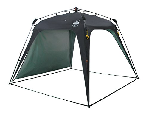 Lumaland Outdoor Pop Up Pavillon Gartenzelt Camping Partyzelt Zelt robust wasserdicht Schwarz