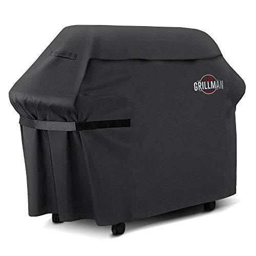 Grillman Premium (183 cm) BBQ, Schwere Grill Abdeckung für Weber, Brinkmann, Char Broil Etc. reissfest, UV-& Wasserabweisend (183 cm / 72 in)