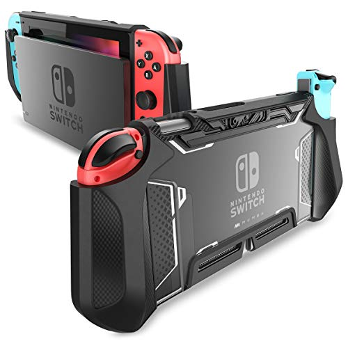 Mumba Hülle für Nintendo Switch Robuste Schutzhülle Hybrid TPU Griff Case Cover für Nintendo Switch, Schwarz