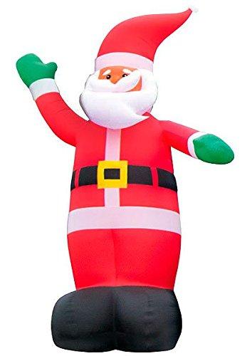 infactory Riesen Weihnachtsmann: Selbstaufblasender XXL-Weihnachtsmann, 6 m (Aufblasbarer Weihnachtsmann)