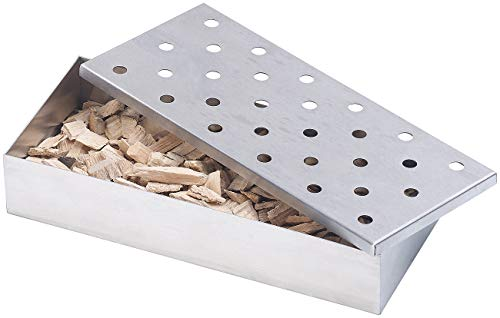 Rosenstein & Söhne Smokerbox: Räucherbox aus rostfreiem Edelstahl, für Gas- und Holzkohlegrills (Räucherbox Kugelgrill)