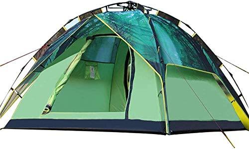 WSJYP Camping Outdoor 3-4 Personen Zelt, Sun Shelter Cabana Wasserdicht, Shade Canopy Beach Zelte, Picknick Bergsteigen Angeln,Green