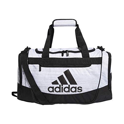 adidas Unisex Defender III Sporttasche, klein, zweifarbig, Weiß / Schwarz, Größe S