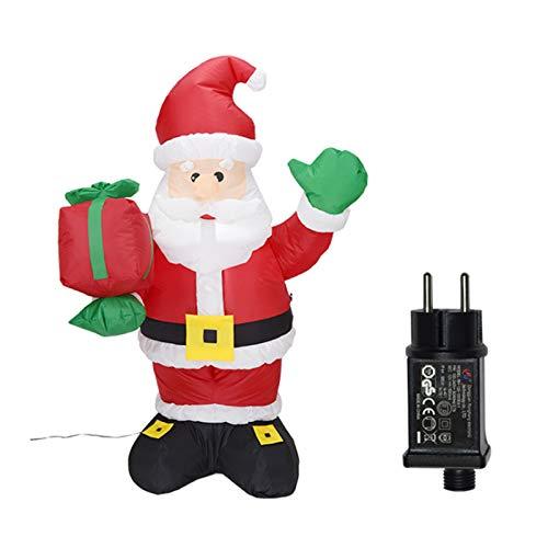 Wsaman 4.2Ft Aufblasbaren Weihnachtsmann Gift Pack Ornamente Garten-Dekoration-Partei Props Spielzeug Aufblasbares Modell Mit Hellem LED-Licht Für Yard/Party/Indoor/Outdoor/Rasen