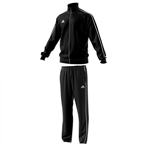adidas Herren Polyesteranzug Core 18 Black/White M