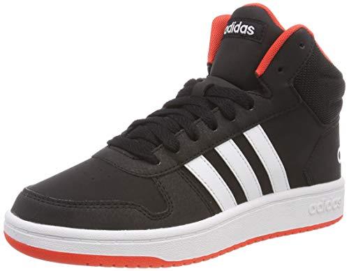 adidas Unisex-Erwachsene Hoops 2.0 Mid Fitnessschuhe, Schwarz (Negbás/Ftwbla/Roalre 000), 39 1/3 EU