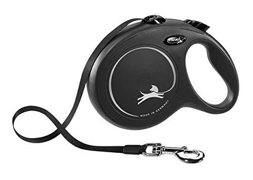 flexi New Classic L Gurt 8 m schwarz für Hunde bis 50 kg