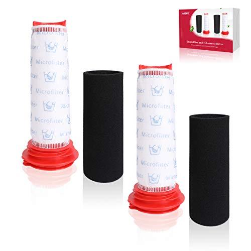 Filter kompatibel mit Bosch Staubsauger,AIEVE 2 Stk. Ersatzfilter und 2 Stk. Schaumstofffilter Zubehör kompatibel mit Bosch Athlet BCH6L2560 BCH6L2561/Bosch BCH6ZOOO Zoo'o ProAnimal Handstaubsauger