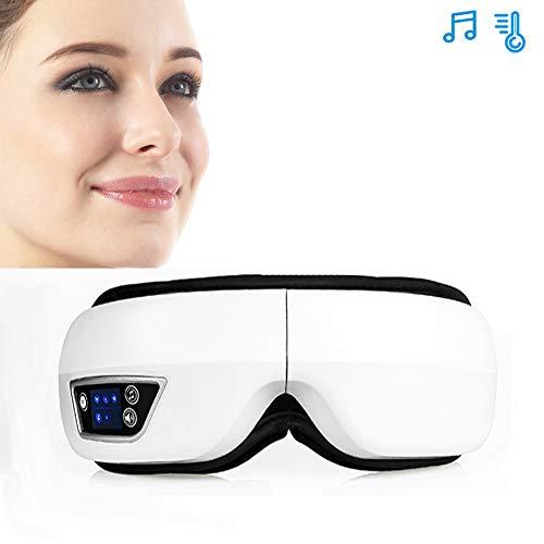 CCCS Elektrische AugenmassagegeräT Shiatsu-MassagegeräT USB Faltbarer Hat Entspannung Massagebrille Mit Vibration,Luftverdichtung