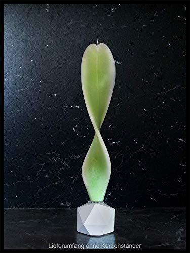 Frühlingsgrün-weiß Dekoration Engelslicht Kerze handmade. Schöne Deko für Ihre Wohnung o. als Geschenk zum Geburtstag, Muttertag, Hochzeit und vieles mehr