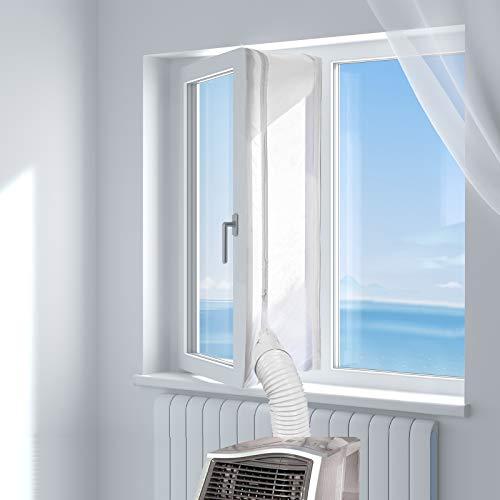HOOMEE Fensterabdichtung für mobile Klimageräte, Klimaanlagen, Wäschetrockner, Ablufttrockner, Hot Air Stop zum Anbringen an Fenster, Dachfenster, Flügelfenster/Fensterabdichtung Klimaanlage 500cm