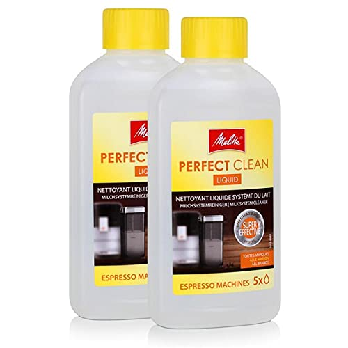 2 x Melitta 202034 Perfect Clean Espresso Maschinen Milchsystem Reiniger 250 ml
