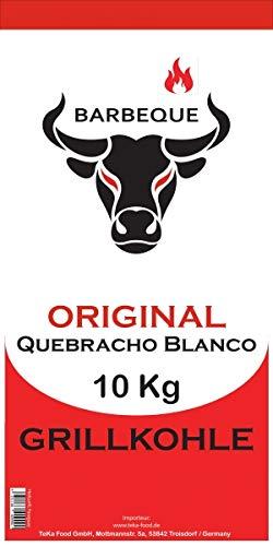 TeKa Food GmbH 10 Kg Quebracho Blanco Premium Grillkohle (Holzkohle) (Paraguay - TOP)